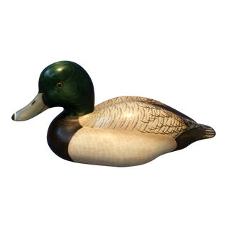 Bluebill Solid Wooden Duck Decoy
