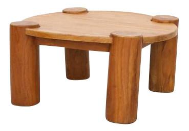 Heavy Solid Wood Coffee Table   Image 1 Of 5