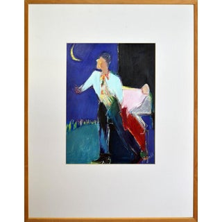 Figurative Man and Moon
