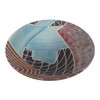Decorated Studio Art Pottery Bowl