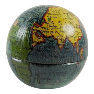 Vintage Tin Globe Pencil Sharpener