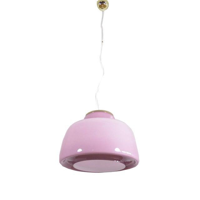 Lilac Murano Glass Italian Pendant Lamp - Image 1 of 3