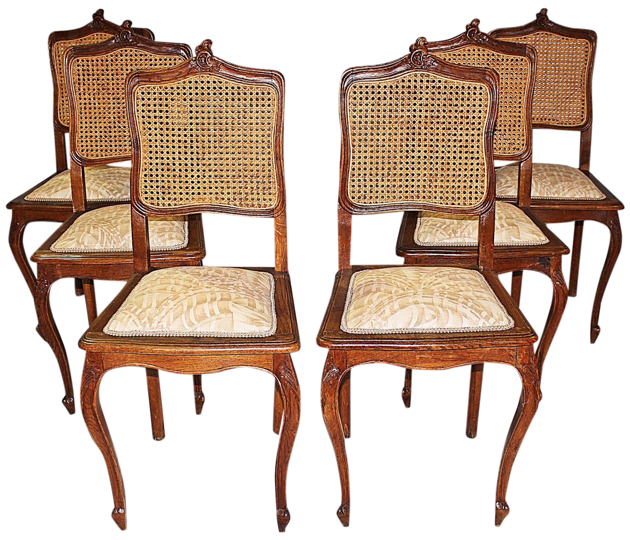 belgian carved oak dining chairs set of 6
