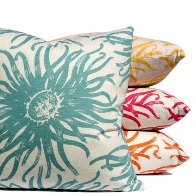 Modern Blue Pillows : Modern Light Blue Flower Pillow Chairish