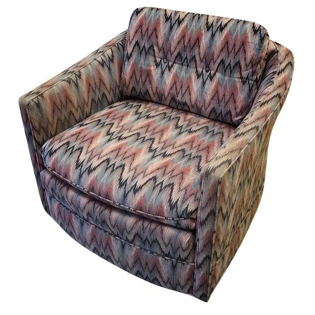 Vintage Post Modern Swivel Club Chair - Image 1 of 8