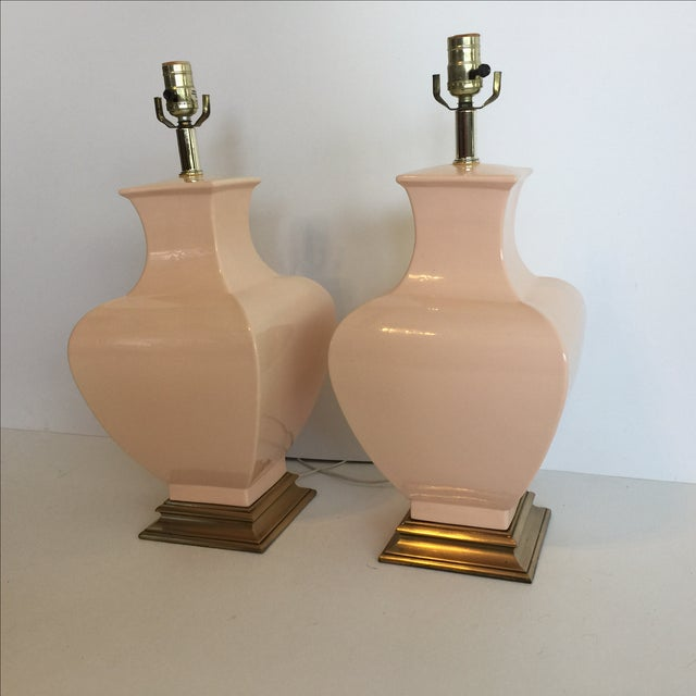 Fine Art Co. Pink Table Lamps - A Pair - Image 3 of 3