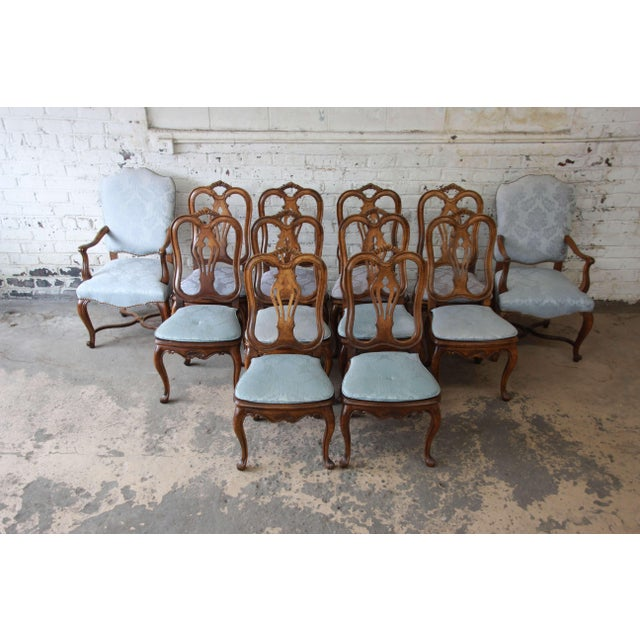 French Provincial Dining Chairs by Baker Furniture - Set of 12 - Image 11 of 11