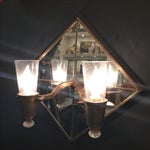 Image of Double Arm Mirrored Sconce - New