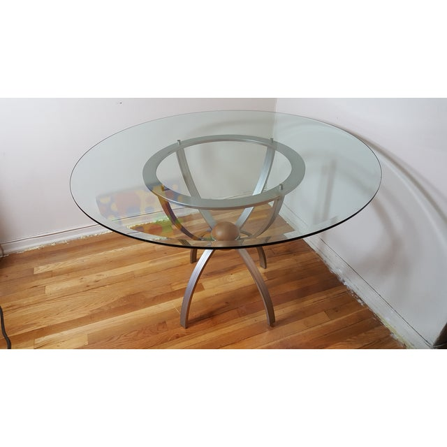 Glass Top Coffee Table Ethan Allen: Ethan Allen Glass Round Dining Table