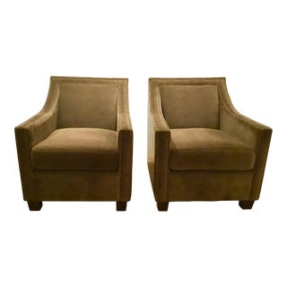 Furniture Classics Olive Green Club Chairs - A Pair