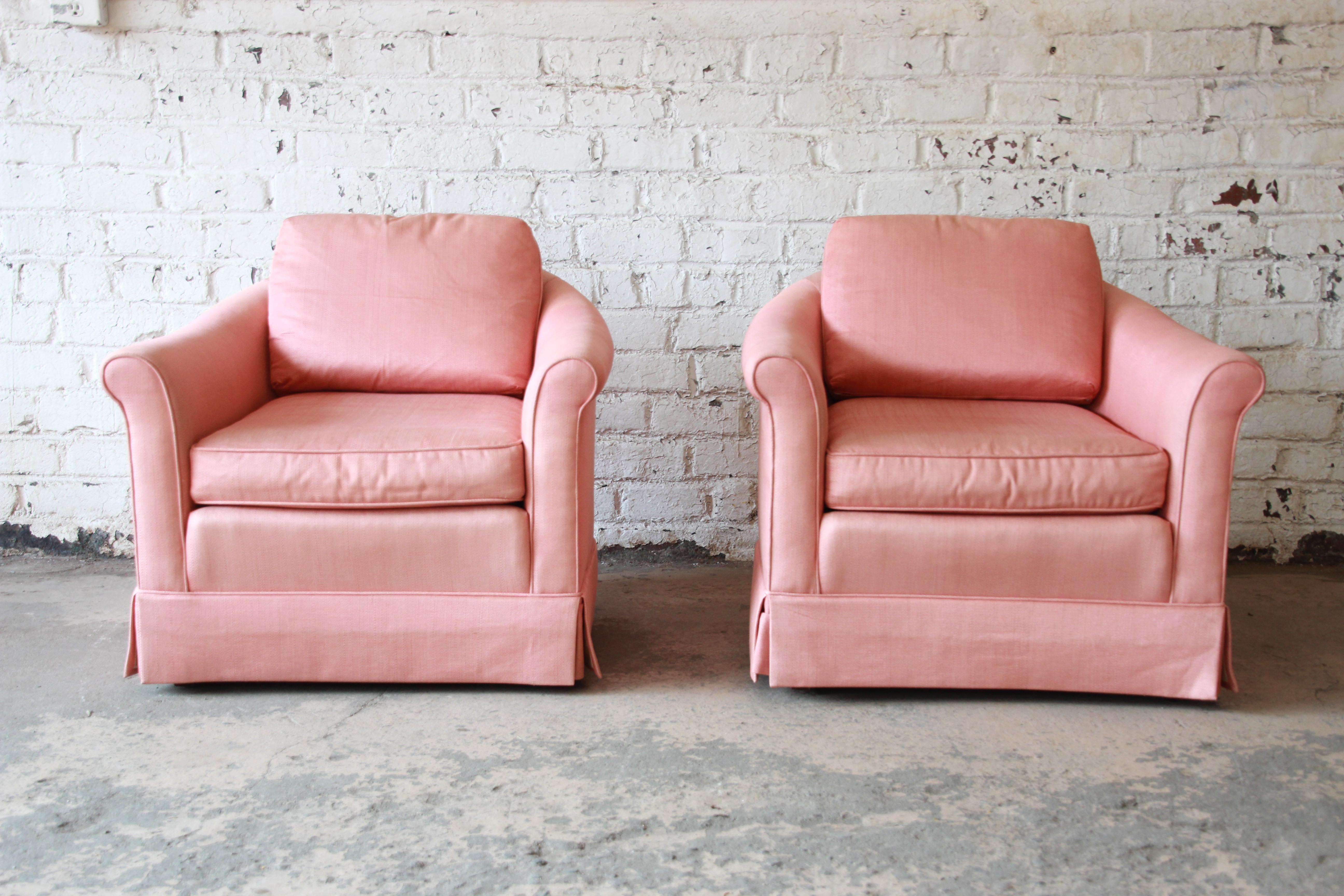 Vintage Baker Furniture Pink Lounge Chairs   A Pair   Image 2 Of 9