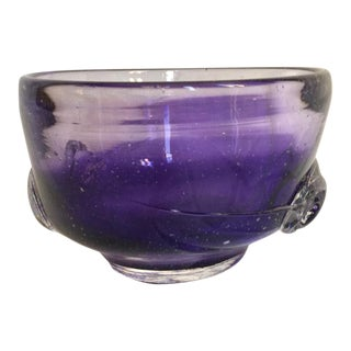 Vintage Purple Art Glass Bowl
