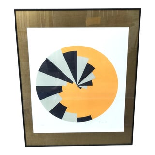 1969 Brian Rice Geometric Limited Edition Lithograph
