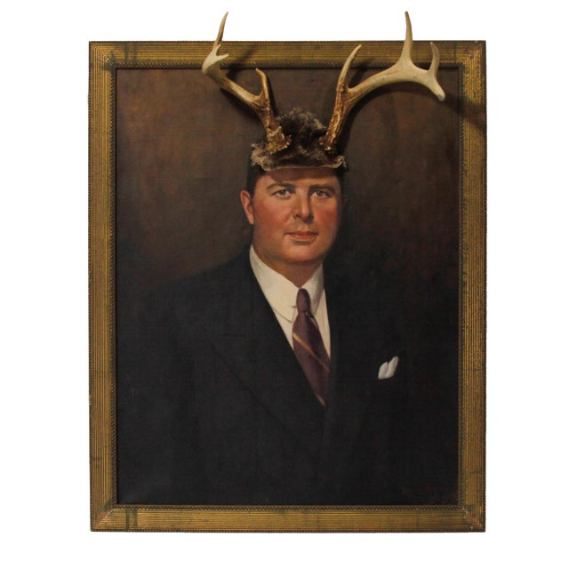 "Image of ""Deer John, You Have Antlers"" Altered Painting"