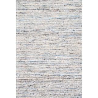 "Contemporary Blue Sari Silk Kilim - 9'0"" X 12'0"""