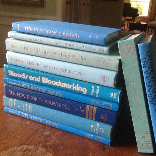 Image of Set of Bright Blue Decorative Books - 11