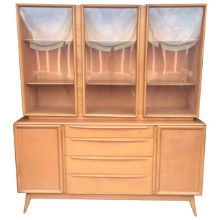 Mid-Century Heywood Wakefield Maple China Hutch