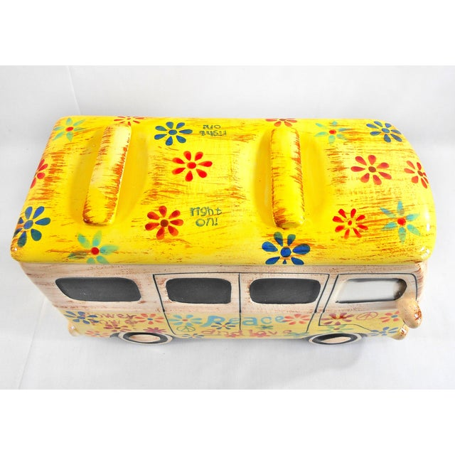 Yellow Hippie Van Ceramic Cookie Jar - Image 9 of 10