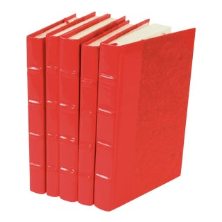 Red Patent Leather Books - Set of 5