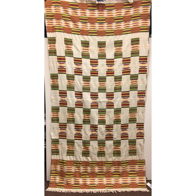 "African Tribal Vintage Textile Throw - 41"" x 79"" - Image 2 of 11"
