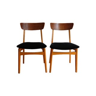Mid Century Modern Dining Side Chair - A Pair