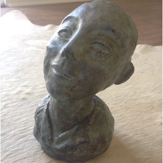1956 Bust Sculpture of Girl - Image 6 of 8