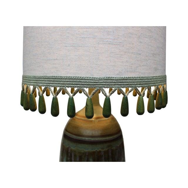 Vintage Matte Drip Glaze Lamp - Image 4 of 4