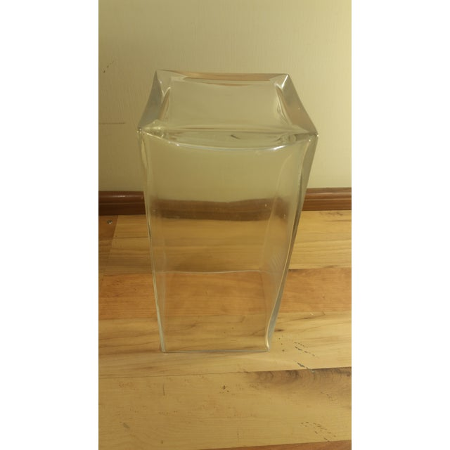 Rectangular Glass Vase - Image 5 of 5
