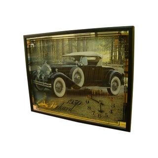 1970s Automotive Shop Clock Featuring 1930 Packard