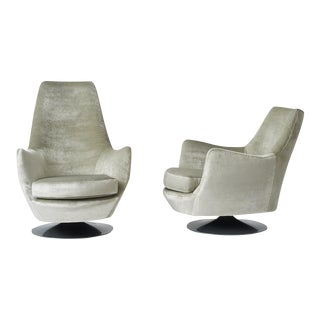 His and Hers Lounge Chairs by Milo Baughman for Thayer Coggin