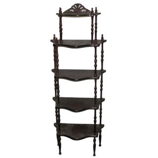 Dark Wooden 5 Tier Shelf