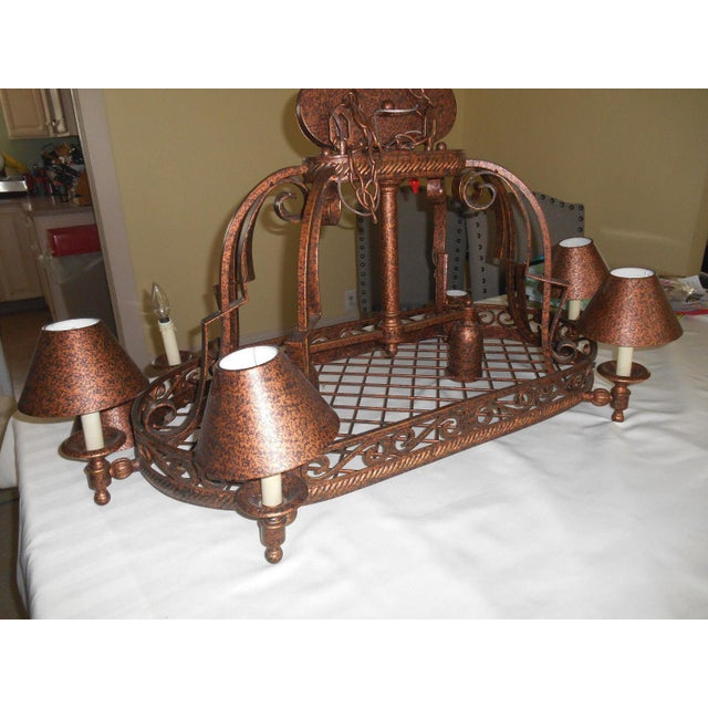 Urban Archaeology Island Copper Kitchen Led Chandelier - Image 5 of 5