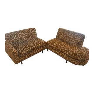 Giraffe Print Sectional Sofa