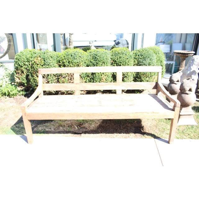 Image of Whitewash Wood Patio Bench