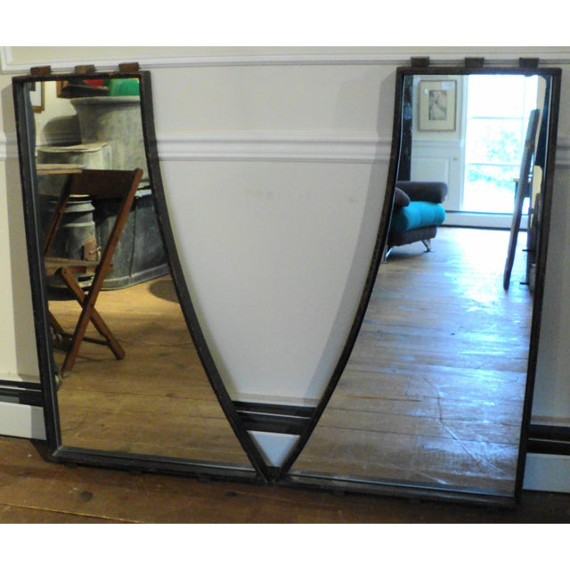 Antique Vintage Industrial Wood Factory Mold Mirrors - A Pair - Image 2 of 11