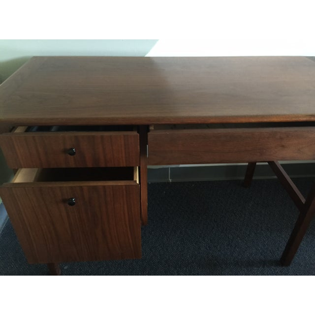Mid-Century Modern Wooden Desk - Image 5 of 7