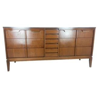 Basic Witz Mid-Century Sculpted Triple Dresser