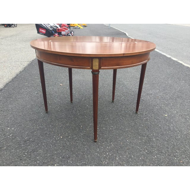 French Louis XVI Style Demi-Lune Table - Image 7 of 7