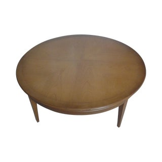 Mid-Century Round Cherry Coffee Table