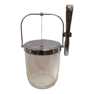 Sasaki Mid-Century Ice Bucket & Tongs
