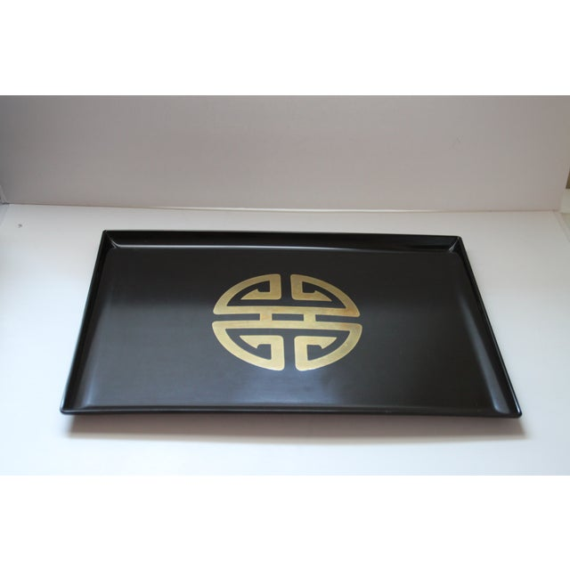Image of Couroc for Gumps Asian-Style Brass Inlay Tray