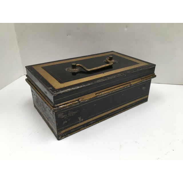 Early 1900s Antique English Metal Cash Box - Image 10 of 11