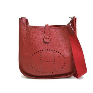 Hermes Evelyne Rouge Shoulder Bag
