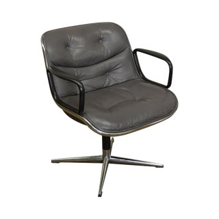 Charles Pollock for Knoll Leather Executive Arm Chair