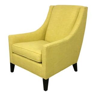 Mitchell Gold + Bob Williams Modern Yellow Wingback Chair