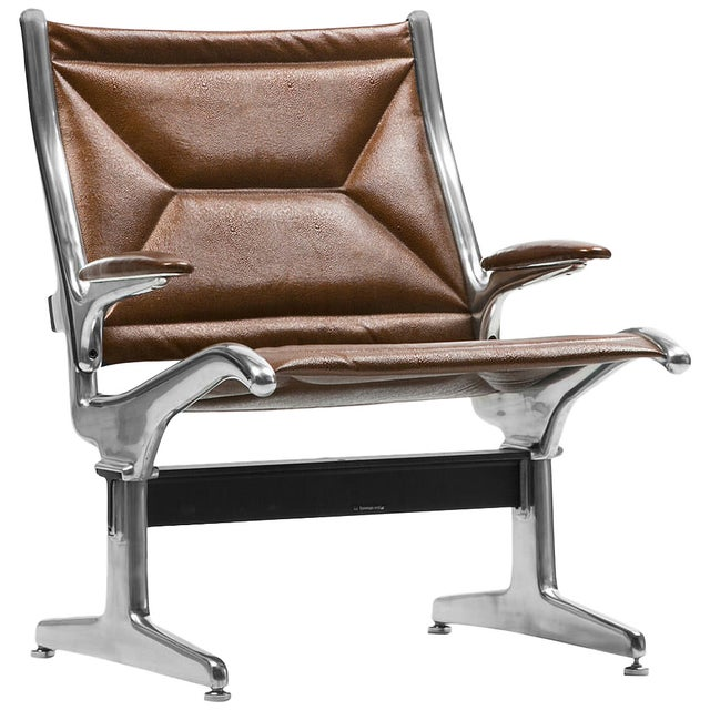 Image of Herman Miller Airport Chair in Copper Leather