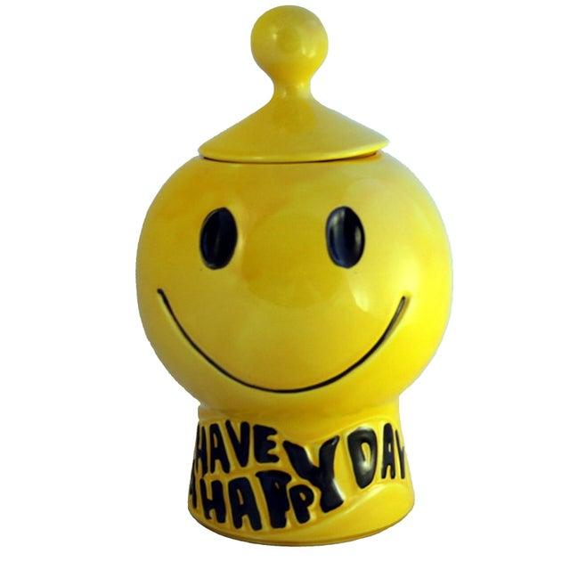 McCoy Smiley Face Cookie Jar - Image 1 of 3