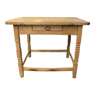 19th C. Chinese Pine Side Work Table