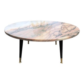 Round Italian Marble -Top Coffee Table