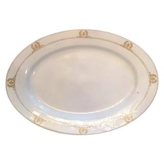 Bone White Austrian Platter With Border